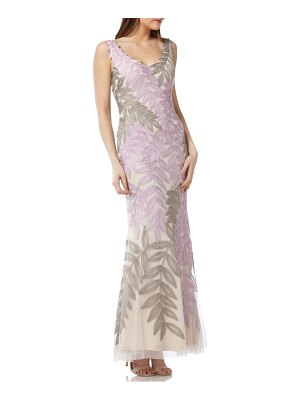 JS Collections leaf soutache trumpet gown