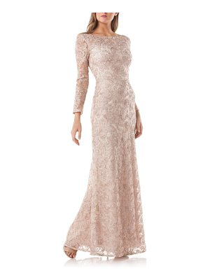 JS Collections soutache a-line gown