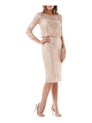 JS COLLECTIONS Soutache Embroidered Blouson Dress