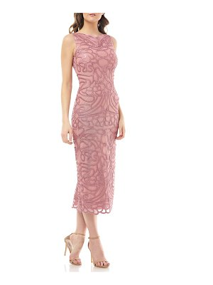 JS Collections soutache embroidered midi dress