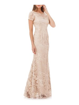 JS COLLECTIONS Soutache Trumpet Gown
