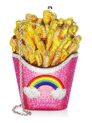 Judith Leiber Couture crystal rainbow french fries clutch