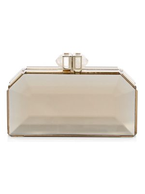 Judith Leiber Couture faceted resin box clutch