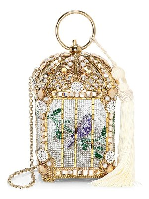 Judith Leiber Couture gilded birdcage clutch
