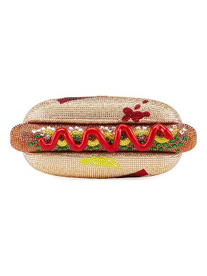 Judith Leiber Couture Hot Dog Minaudiere Clutch Bag