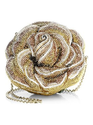 Judith Leiber Couture novelty new rose crystal clutch