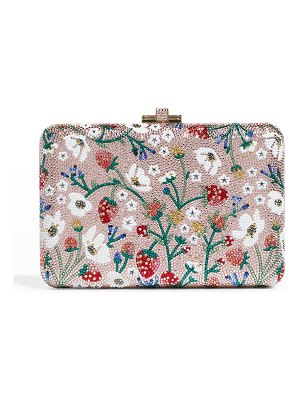 Judith Leiber Couture Slim Slide Strawberry Patch Cocktail Clutch Bag