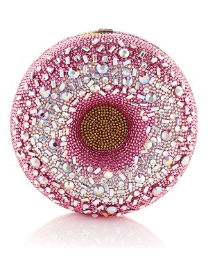 Judith Leiber Couture Strawberry Sprinkle Donut Clutch Bag