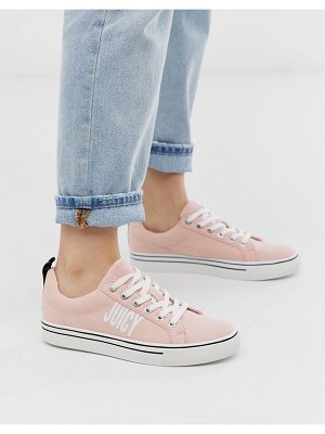 Juicy Couture logo lace up sneaker in pink