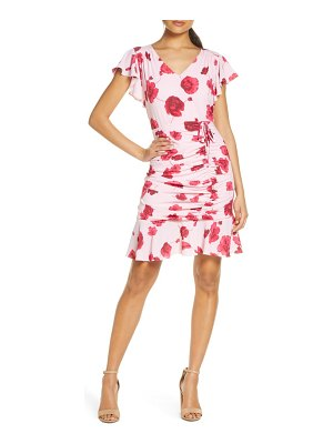 Julia Jordan floral ruched sheath dress