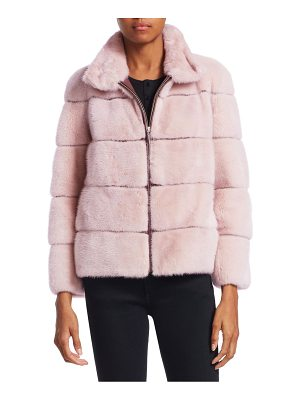 Julia & Stella cropped mink jacket