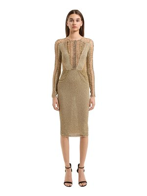 Julien Macdonald Embellished knit dress