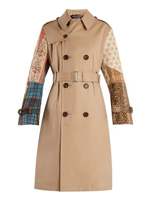 Junya Watanabe Contrast-sleeve cotton-garbardine trench coat
