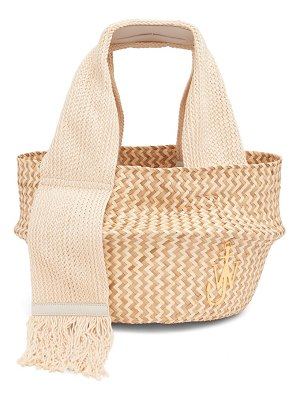 J.w.anderson anchor-logo scarf-handle woven basket bag