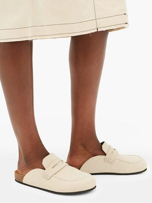 J.w.anderson backless suede loafers