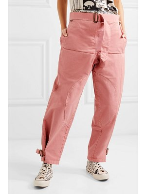 J.w.anderson belted cotton-drill pants