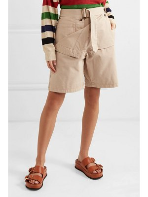 J.w.anderson belted cotton-drill shorts
