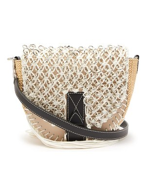 J.w.anderson bike small macramé and leather cross body bag
