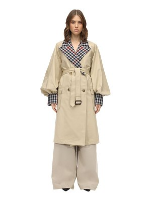 J.w.anderson Check cotton canvas trench coat