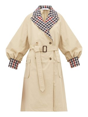 J.w.anderson contrast trim cotton gabardine trench coat