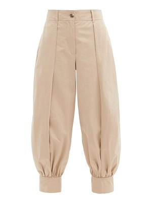 J.w.anderson cotton-twill tapered-leg trousers