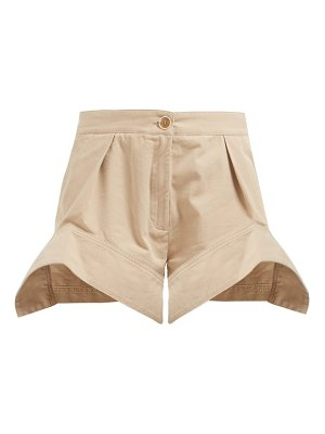 J.w.anderson curved hem cotton chino shorts