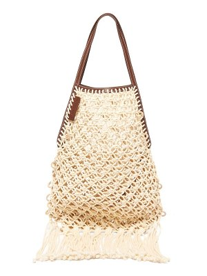 J.w.anderson leather trimmed macramé tote