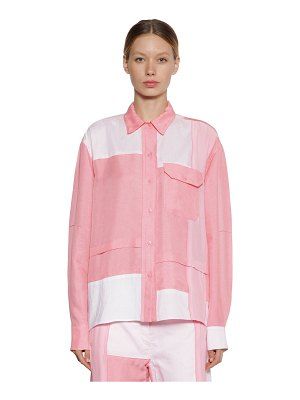 J.w.anderson Silk & cotton patchwork shirt