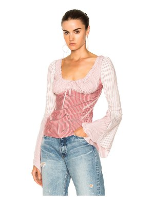 J.w.anderson Silk Stripe Flared Top