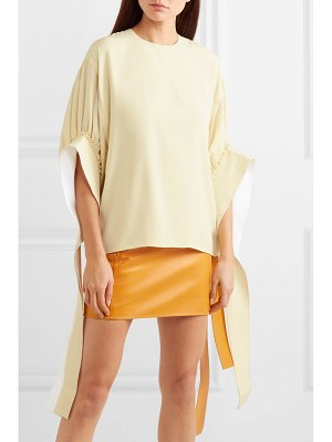 J.w.anderson tie-detailed ruched crepe blouse