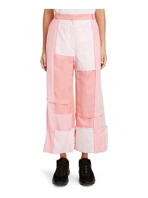 J.w.anderson wide leg patchwork trousers
