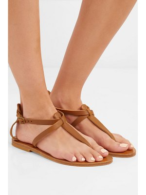 K. Jacques cedre leather sandals