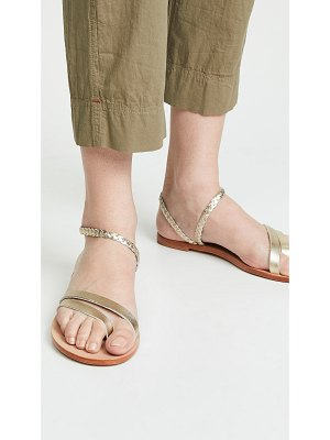 KAANAS rio braided ankle strap sandals