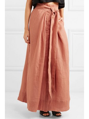 KALITA avedon days linen-canvas maxi skirt