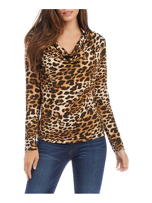 Karen Kane animal print cowl neck top