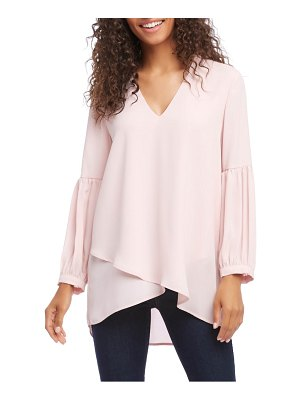 Karen Kane bishop sleeve crossover blouse