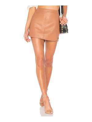 Karina Grimaldi Jacob Leather Skirt