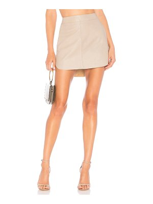 Karina Grimaldi Simon Leather Skirt