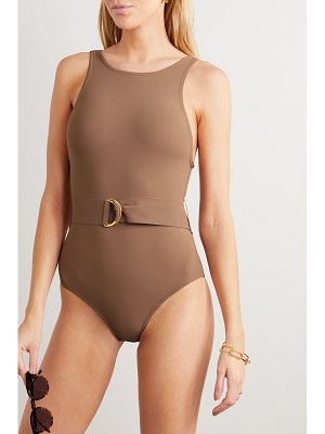 Karla Colletto angelina belted swimsuit