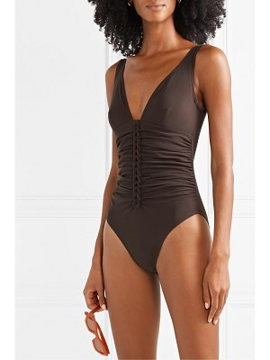 Karla Colletto joana ruched underwired swimsuit