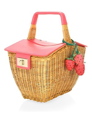 KATE SPADE NEW YORK 3d Wicker Picnic Bag