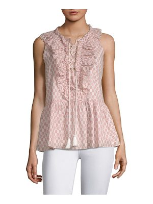 Kate Spade New York arrow stripe lace-up cotton top