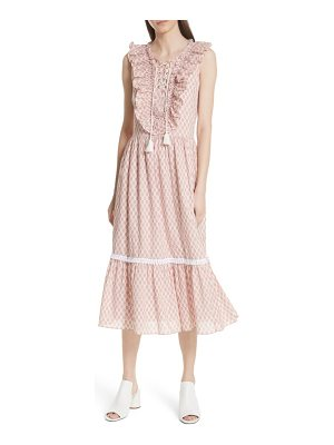 Kate Spade New York arrow stripe lace up dress