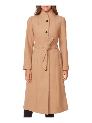 Kate Spade New York belted wool blend coat