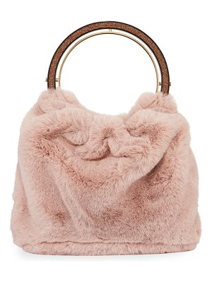 Kate Spade New York betty faux-fur swag bag