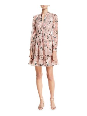 KATE SPADE NEW YORK Botanical Chiffon Silk-Blend Mini Dress