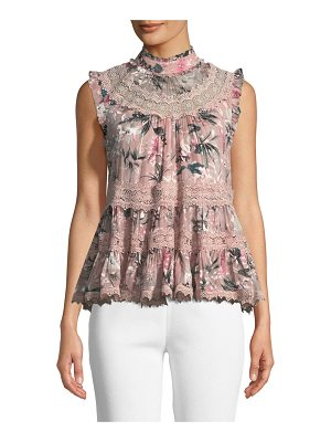 KATE SPADE NEW YORK Botanical Chiffon Sleeveless Top