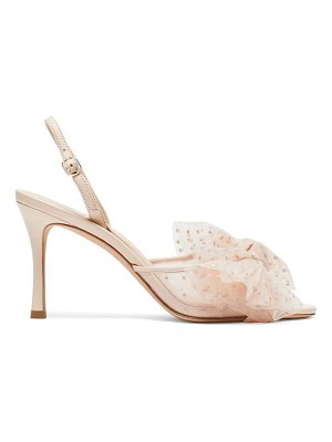 Kate Spade New York bridal sparkle tulle & leather slingback sandals