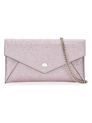 Kate Spade New York burgess court glitter envelope clutch bag