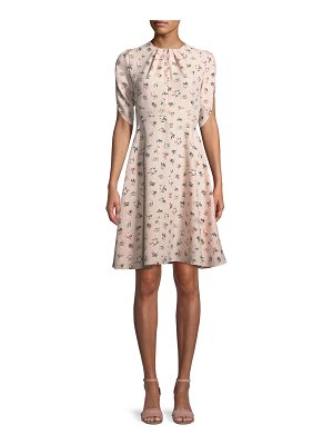Kate Spade New York flora split-neck tulip-sleeve dress